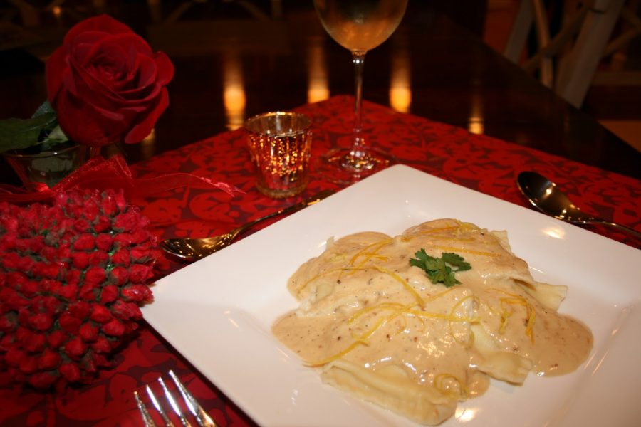 Lobster Ravioli with Lemon Cream sauce